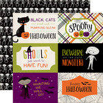 Echo Park - Halloween Town Collection - 12 x 12 Double Sided Paper - 4 x 6 Journaling Cards