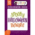 Echo Park - Halloween Town Collection - Designer Dies - Spooky Halloween Word