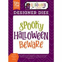 Echo Park - Halloween Town Collection - Designer Dies - Spooky Halloween Word