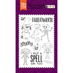 Echo Park - Halloween Town Collection - Clear Acrylic Stamps - Halloween Costumes