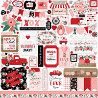 Echo Park - Hello Valentine Collection - 12 x 12 Cardstock Stickers - Elements