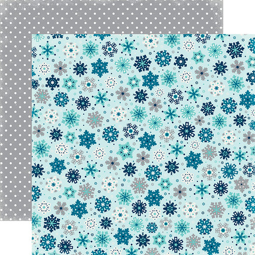 Echo Park - Hello Winter Collection - 12 x 12 Double Sided Paper - Winter Snowfall
