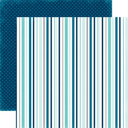 Echo Park - Hello Winter Collection - 12 x 12 Double Sided Paper - Chilled Stripes