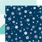 Echo Park - Hello Winter Collection - 12 x 12 Double Sided Paper - Frigid Blizzard