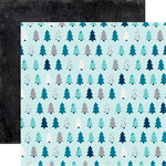 Echo Park - Hello Winter Collection - 12 x 12 Double Sided Paper - Winter Pines