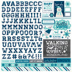 Echo Park - Hello Winter Collection - 12 x 12 Cardstock Stickers - Alphabet
