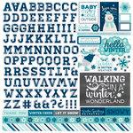 Echo Park - Hello Winter Collection - 12 x 12 Cardstock Stickers - Alphabet
