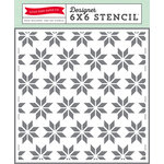 Echo Park - Hello Winter Collection - 6 x 6 Stencil - Holiday Quilt