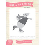Echo Park - Hello Winter Collection - Designer Dies - Skating Bear