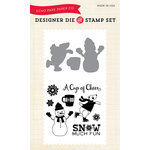 Echo Park - Hello Winter Collection - Designer Die and Clear Acrylic Stamp Set - Snow Much Fun