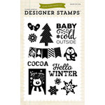 Echo Park - Hello Winter Collection - Clear Acrylic Stamps - Snow Cold