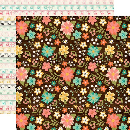 Echo Park - I'd Rather Be Crafting Collection - 12 x 12 Double Sided Paper - Favorite Floral