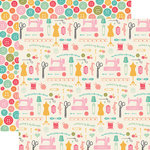 Echo Park - I'd Rather Be Crafting Collection - 12 x 12 Double Sided Paper - Sew Everything