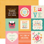 Echo Park - I'd Rather Be Crafting Collection - 12 x 12 Double Sided Paper - 4 x 4 Journaling Cards
