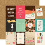 Echo Park - I'd Rather Be Crafting Collection - 12 x 12 Double Sided Paper - 3 x 4 Journaling Cards