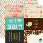 Echo Park - I'd Rather Be Crafting Collection - 12 x 12 Double Sided Paper - 4 x 6 Journaling Cards