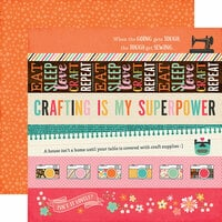 Echo Park - I'd Rather Be Crafting Collection - 12 x 12 Double Sided Paper - Border Strips