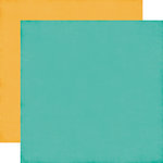 Echo Park - I'd Rather Be Crafting Collection - 12 x 12 Double Sided Paper - Teal