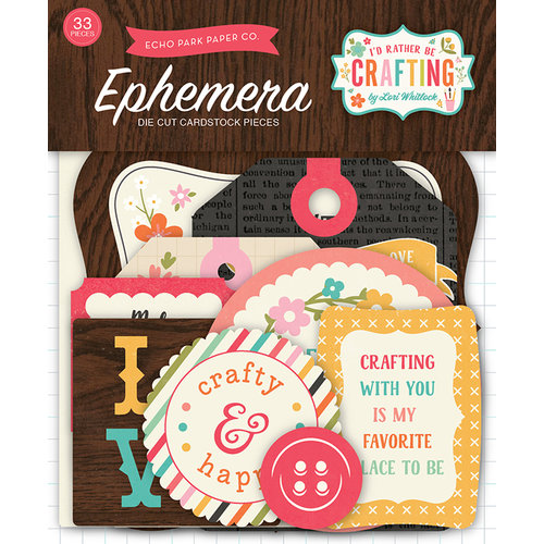 Echo Park - I'd Rather Be Crafting Collection - Ephemera