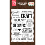 Echo Park - I'd Rather Be Crafting Collection - Clear Acrylic Stamps - Eat Sleep Craft