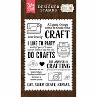 Echo Park - I'd Rather Be Crafting Collection - Clear Photopolymer Stamps - Eat Sleep Craft