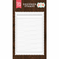 Echo Park - I'd Rather Be Crafting Collection - Clear Photopolymer Stamps - Notepad