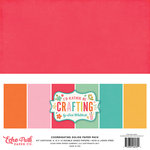 Echo Park - I'd Rather Be Crafting Collection - 12 x 12 Paper Pack - Solids