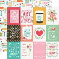 Echo Park - I Heart Crafting Collection - 12 x 12 Double Sided Paper - 3 x 4 Journaling Cards
