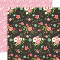 Echo Park - I Heart Crafting Collection - 12 x 12 Double Sided Paper - Fancy Floral