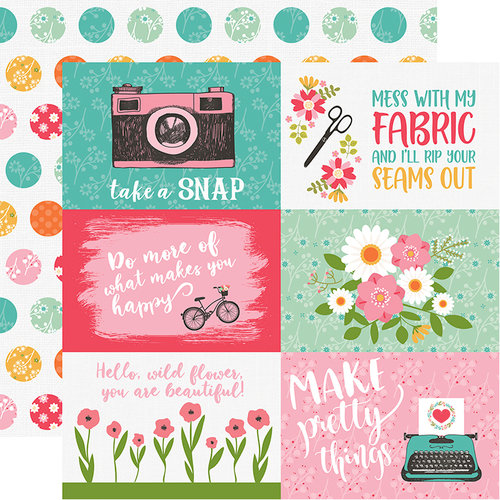 Echo Park - I Heart Crafting Collection - 12 x 12 Double Sided Paper - 4 x 6 Journaling Cards