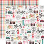 Echo Park - I Heart Crafting Collection - 12 x 12 Double Sided Paper - Create Beauty