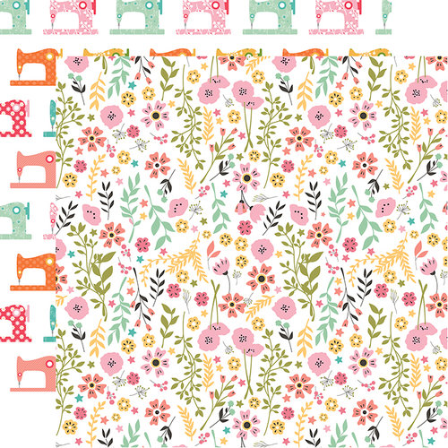 Echo Park - I Heart Crafting Collection - 12 x 12 Double Sided Paper - Pretty Flowers