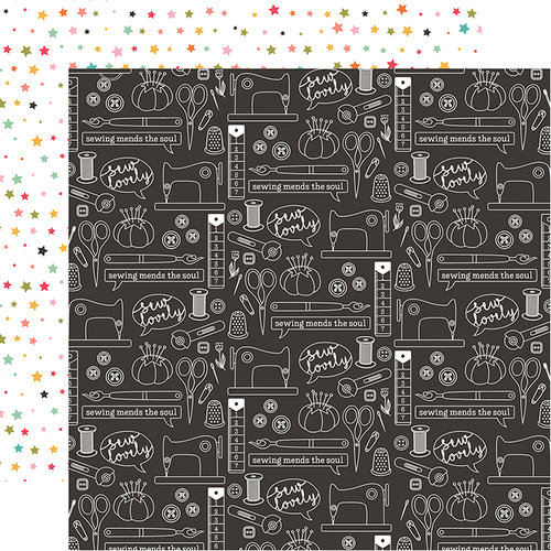 Echo Park - I Heart Crafting Collection - 12 x 12 Double Sided Paper - Sew Lovely