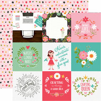 Echo Park - I Heart Crafting Collection - 12 x 12 Double Sided Paper - 4 x 4 Journaling Cards