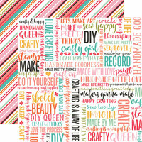 Echo Park - I Heart Crafting Collection - 12 x 12 Double Sided Paper - DIY Queen