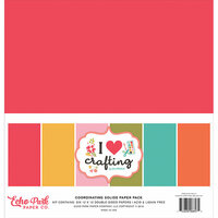 Echo Park - I Heart Crafting Collection - 12 x 12 Paper Pack - Solids