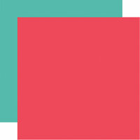 Echo Park - I Heart Crafting Collection - 12 x 12 Double Sided Paper - Coral