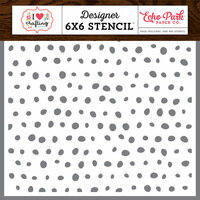 Echo Park - I Heart Crafting Collection - 6 x 6 Stencil - Paint Dots