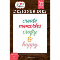 Echo Park - I Heart Crafting Collection - Designer Dies - Crafty and Happy Word