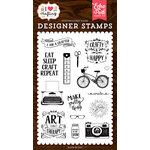 Echo Park - I Heart Crafting Collection - Clear Photopolymer Stamps - I Am A Crafter