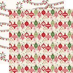 Echo Park - I Love Christmas Collection - 12 x 12 Double Sided Paper - Deck The Halls