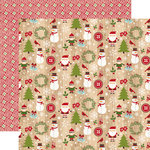 Echo Park - I Love Christmas Collection - 12 x 12 Double Sided Paper - Here Comes Santa