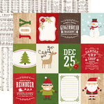 Echo Park - I Love Christmas Collection - 12 x 12 Double Sided Paper - 3 x 4 Journaling Cards