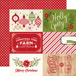 Echo Park - I Love Christmas Collection - 12 x 12 Double Sided Paper - 4 x 6 Journaling Cards