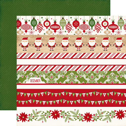 Echo Park - I Love Christmas Collection - 12 x 12 Double Sided Paper - Border Strips