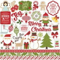 Echo Park - I Love Christmas Collection - 12 x 12 Cardstock Stickers - Elements