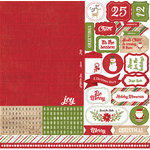Echo Park - I Love Christmas Collection - 12 x 12 Cardstock Stickers - Alphabet