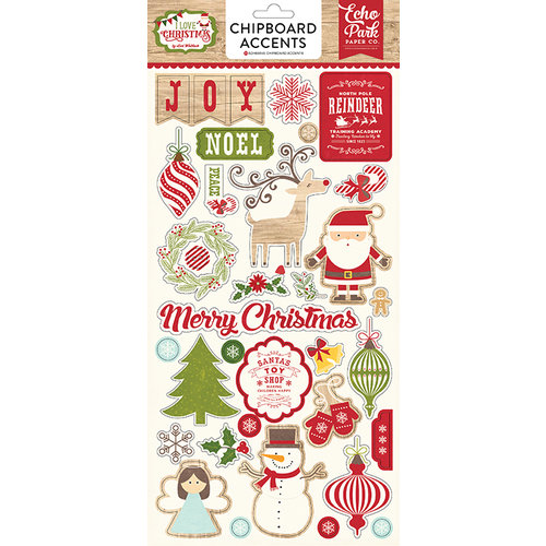 Echo Park - I Love Christmas Collection - Chipboard Stickers