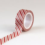 Echo Park - I Love Christmas Collection - Decorative Tape - Candy Cane Stripe