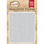 Echo Park - I Love Christmas Collection - Embossing Folder - Pine Boughs